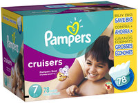 Pampers Cruisers Super Economy Pack Size 7 Diapers 78 ct Box