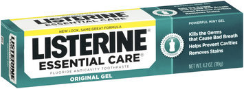 Listerine® Powerful Mint Gel Essential Care® Fluoride Toothpaste 4.2 Oz Box