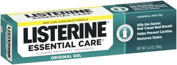 Listerine® Powerful Mint Gel Essential Care® Fluoride Toothpaste 4.2 Oz Box