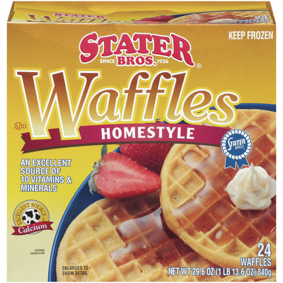 Stater Bros. Homestyle 24 Ct Waffles 29.6 Oz Box