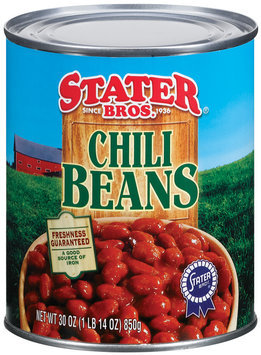 Stater Bros.  Chili Beans 30 Oz Can