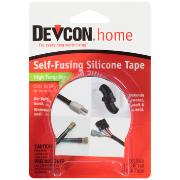 "Devcon® Item #82114 Home High Temp Range Black Self-Fusing Silicone Tape 1"" x 6' Roll"