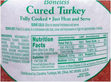 Carolina Turkey® Boneless Cured Turkey