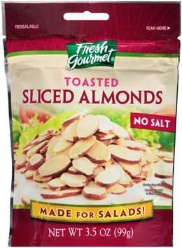 Fresh Gourmet® No Salt Toasted Sliced Almonds 3.5 oz.