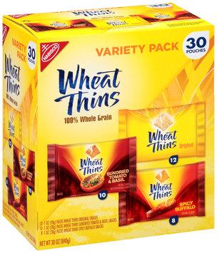 Nabisco Wheat Thins Original/Sundried Tomato & Basil/Spicy Buffalo Snacks Variety Pack 30-1 oz. Packs