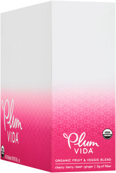 Plum Vida™ Organic Fruit & Veggie Blend Cherry, Berry, Beet & Ginger 6-5 oz. Pouches