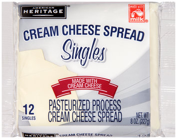 American Heritage® Cream Cheese Spread Singles 12 ct Pack