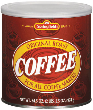 Springfield Original Roast Coffee 34.5 Oz Can