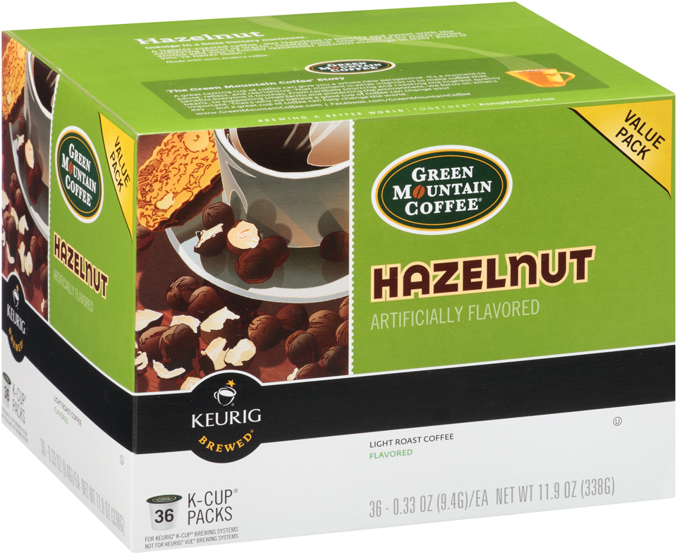 Green Mountain Coffee Hazelnut Light Roast Coffee K-Cup