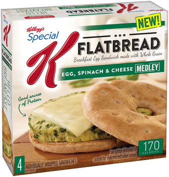 Kellogg's® Special K® Flatbread Egg Spinach & Cheese Sandwiches 4 ct Box