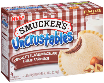 Smucker's® Uncrustables® Chocolate Flavored Hazelnut Spread Sandwich 4-1.8 oz. Packs