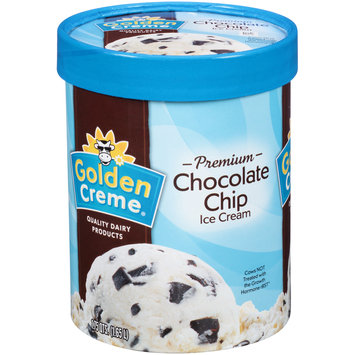 Golden Creme® Premium Chocolate Chip Ice Cream 1.75 qt. Tub
