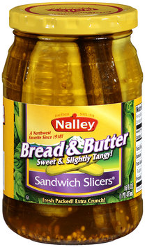 Nalley® Bread & Butter Sandwich Slicers 16 fl oz Jar