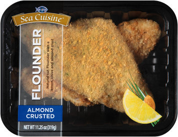 Sea Cuisine® Almond Crusted Flounder 11.25 oz. Tray