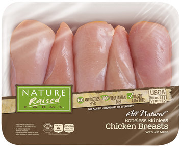 Nature Raised Farms® All Natural Boneless Skinless Chicken Breasts with Rib Meat Pack