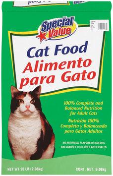 Special Value  Cat Food 20 Lb Bag