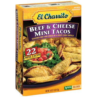 El Charrito™ Beef & Cheese Mini Tacos Frozen Dinner 22 ct Box