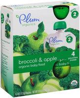Plum™ Organics Yum™ Stage 2 Broccoli & Apple Organic Baby Food 4-4 oz. Pouches