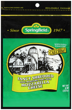 Springfield® Fancy Shredded Low-Moisture Part-Skim Mozzarella Cheese 8 oz