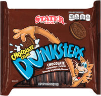Stater Bros.® Dunksters® Chocolate Creme Chocolate Sandwich Cookies 15.25 oz. Tray