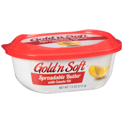 Gold 'n Soft® Spreadable Butter with Canola Oil 7.5 oz. Tub