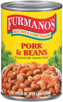Furmano's Prepared W/Tomato Sauce Pork & Beans 16 Oz Can