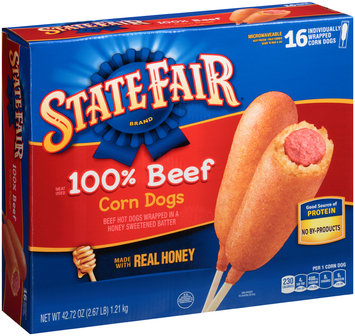 State Fair® 100% Beef Corn Dogs 16 ct Box