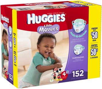 Huggies® Little Movers Size 4 Diapers 152 ct Box