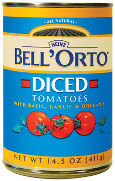 BELL'ORTO Diced W/Basil Garlic & Oregano Tomatoes 14.5 OZ CAN