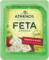 Athenos Chunk Tomato & Basil Feta Cheese 8 oz.