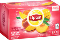 Lipton™ Luscious Peach Mango Herbal Tea Bags 20 ct Box