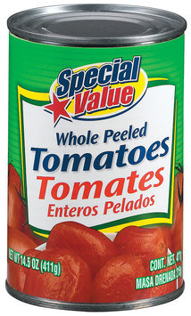 Special Value Whole Peeled Tomatoes 14.5 Oz Can