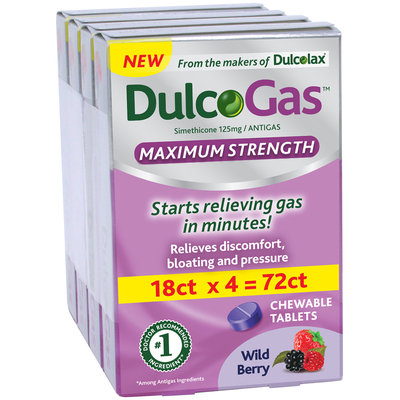 DulcoGas™ Maximum Strength Wild Berry 72 count