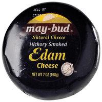May-Bud Edam Hickory Smoked Natural Cheese 7 Oz Wheel
