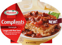 Hormel® Compleats® Homestyle Lasagna with Meat Sauce 10 oz. Tray