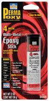 Permatex® Permapoxy™ 84309 4 Minute Multi-Metal Carded Epoxy Stick 2 Oz Putty W/Vial