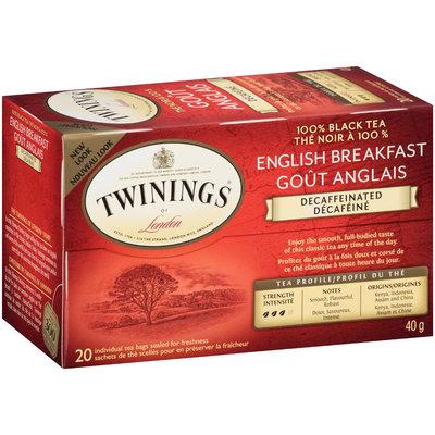 Twinings of London® English Breakfast Decaffeinated Tea Bags 20 ct Box