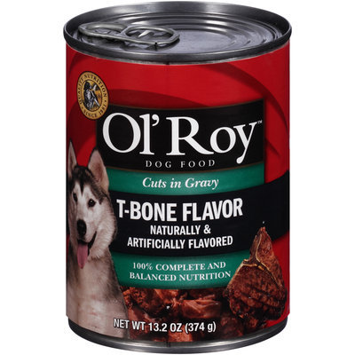 Ol' Roy™ Cuts in Gravy T-Bone Flavor Dog Food 13.2 oz. Can