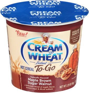 Cream of Wheat® Instant To-Go Maple Brown Sugar Walnut Hot Cereal 2.29 oz. Cup