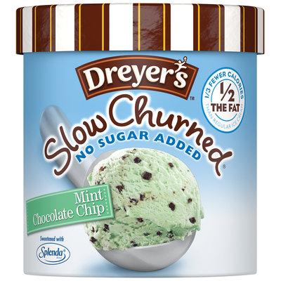 DREYER'S/EDY'S Slow Churned Mint Chocolate Chip NSA Light Ice Cream 1.5 qt. Carton