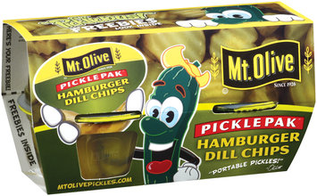 Mt. Olive Hamburger Dill Chips Portable Pickles 3.7 Oz Pickle Pak 4 Ct Plastic Cups