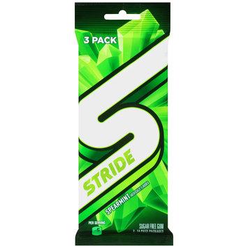 Stride Spearmint Sugar Free Gum 3-14 Piece Packs