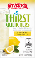 Stater Bros.® Thirst Quenchers Natural Lemonade Low Calorie Drink Mix 1.4 oz. Box