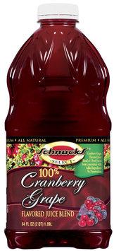 Schnucks 100% Grape Cranberry Juice Blend 64 Fl Oz Plastic Bottle
