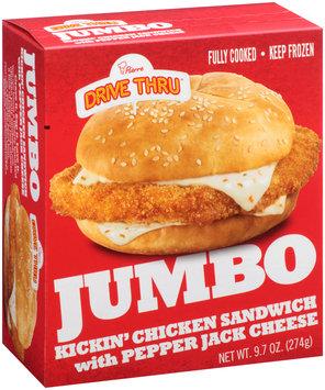 Pierre™ Drive Thru® Jumbo Kickin' Chicken Sandwich with Pepper Jack Cheese 9.7 oz. Box