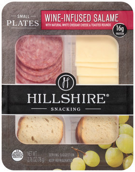 Hillshire® Snacking Small Plates Wine-Infused Salame with Natural White Cheddar Cheese & Toasted Rounds 2.76 oz. Tray