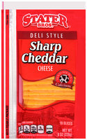 Stater Bros.® Deli Style Sharp Cheddar Cheese Slices 8 oz. Pack