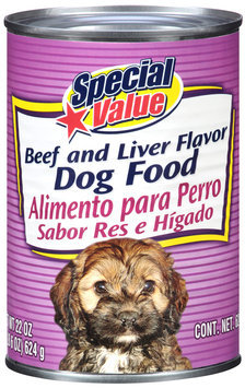 Special Value Beef and Liver Flavor Dog Food 22 oz. Can