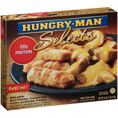 Hungry-Man® Selects Golden Battered Chicken with Cheese Fries 16 oz. Box