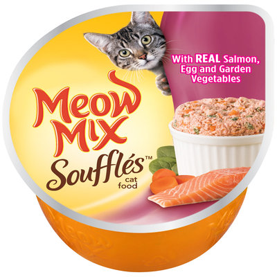 Meow Mix Souffles™ with Real Salmon, Egg and Garden Vegetables Cat Food 2.75 oz. Cup